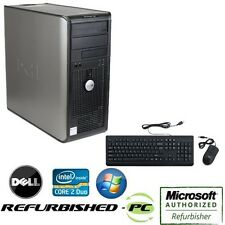 fast dell tower pc core 2 duo windows 10 keyboard mouse