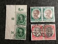 Deutsches Reich 1934 / 1936 - MiNr. 541+542 + 608  Lot Marken