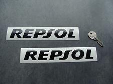 2x stickers Repsol Noir 18cm auto moto bike decals pegatinas aufkleber A107-070
