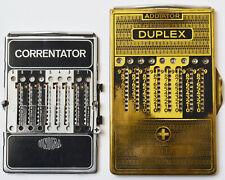 2 mechanische Rechenschieber Correntator Unical Addiator Duplex 1920er - 1950er
