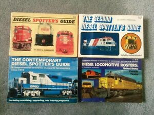 Lot of 4 Contemporary DIESEL SPOTTER'S GUIDE & Rosters Pinkepank Railroad Train