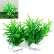 2x 11cm Plantes Usine d'eau Artificielle Aquatique Décor Réservoir Aquarium