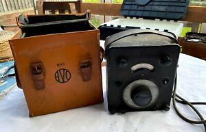 Vintage AVO test bridge test meter with original case