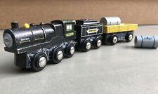 """BPRP 3-Car Wooden Train, by Toys """"R"""" Us Imaginarium. Compatible w/ Thomas & Brio"""