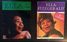 Ella Fitzgerald - Pair Of Vintage Original 1960s Concert Programs; Tons Photos !