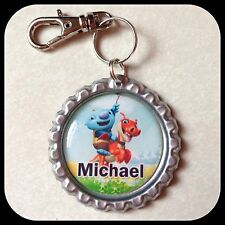 Personalized WALLYKAZAM Bottle Cap Name Jewelry Zipper Pull Backpack ID Tag