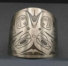 Nickle Silver Bells Vintage Native American Style Wide Bracelet