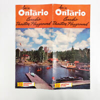 1950s Ontario Canada Vintage Travel Brochure Canadian Vacation Holiday