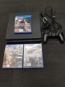 Sony PlayStation 4 PS4 1TB Slim Console - Black (CUH-2102B) w/ 3 Games