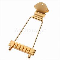 Gold Guitar Trapeze Tailpiece Bridge For Vintage Archtop 6 String Bass Parts