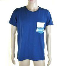 T-Shirt Maglietta Uomo FRANKLIN & MARSHALL Made in Italy I673 Blu Tg L