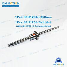 12mm Anti Backlask Rolled Ball screw SFU1204 RM1204 L350mm +ballnut + machining