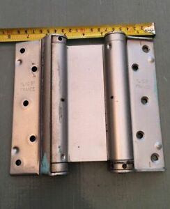 Double Action Spring Swing Door Gate Saloon Kitchen Hinges Silver