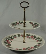 Shenandoah Strawberry 2 Two Tier Serving Tray Platter Dish Candy Cookies