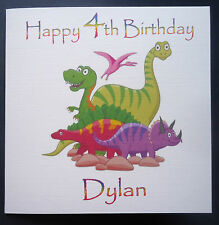 PERSONALISED DINOSAUR BIRTHDAY CARD - ANY AGE 1st 2nd 3rd 4th 5th 6th 7th etc