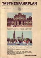 Fahrplan Reichsbahndirektionen Dresden u. Cottbus 1990/1991 RAR!