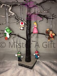 Super Mario Set Of 6 childrens character christmas tree decorations