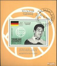 Sharjah block42a (complete issue) used 1968 known Football