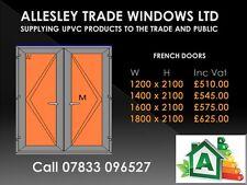 Upvc Anthracite Grey French Door 1200 X 2100, 1300 1400 1500 1600 1700 1800