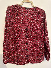 Red leopardato Blusa, Taglia 16