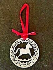 Lenox Yuletide Series Rocking Horse Pierced Porcelain Christmas Ornament - 2 3/8