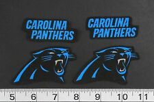 Carolina Panthers NFL Iron On Fabric Appliques Patch Logo DIY Craft 4 pc NO SEW