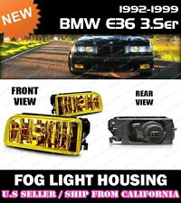 92-98 BMW E36 318i 323i 328i M3 Replacement Fog Light Lense Housing (YELLOW)