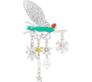 Kirks Folly Fairy Flurries Pin Silvertone