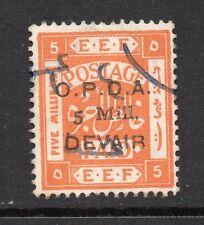1918 Palestine E.E.F. Bft:2  5mill on 5m Orange O.P.D.A. DEVAIR Fine Revenue.