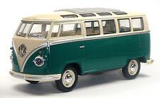 Nuevo: VW Bus descubrimos t1 (samba) 1:24 verde coche modelo aprox. 17,5cm artículo nuevo Kinsmart!