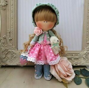 Rag doll handmade in the UK Tilda doll Ooak doll Art doll AMARA 8 inch tall