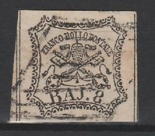 FRANCOBOLLI - 1852 STATO PONTIFICIO 8 BAJ Z/8597