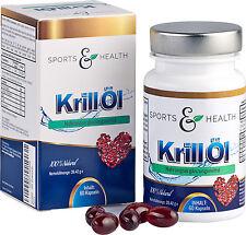 Omega 3 Krillöl Fettsäuren - 60 Hochdosierte Kapseln - 500 mg Krill Öl - EPA DHA