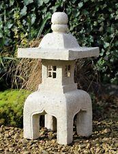Garden Solar Ornament Chinese Buddha Pagoda, Japanese Lantern decor Buddha LARGE