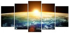Earth Space Canvas Print Painting Framed Wall Art Living Room Bedroom Home Decor