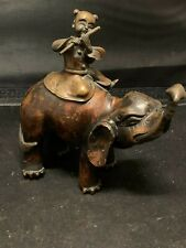 New listing Antique Chinese Bronze Censer Incense Burner Man Riding Elephant Qing 18Th-19Th