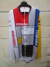 Veste longue pluie cycliste LA VIE CLAIRE TOSHIBA vintage jacket giacca 1987 XL