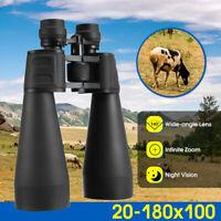 Portable 20x-180x100 Zoom Binoculars Telescope HD Day Night Vision Travel、Hiking