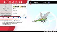 Shiny 6IV EV Trained Modest Levitate Vikavolt Pokemon Sword/Shield + Item