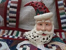 "Cast Iron Santa Claus Head 11"" x 9"" Lightable"