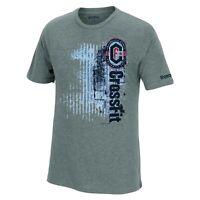 "Reebok CrossFit ""Functionality & Intensity"" Men's Grey Tri-Blend Premium T-Shirt"