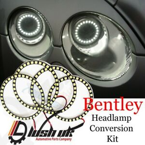 BENTLEY SUPERSPORT SMD LED HEADLIGHT RING CONVERSION DRL WHITE FACELIFT RINGS