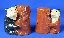 Brown and Black Bear Salt and Pepper Shakers