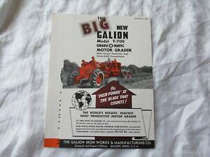 1955 Galion T-700 motor grader brochure