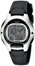 Casio Ladies Digital LED Back Light Sports Watch Black Rubber Srap LW-200-1AVDF