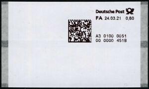 Bund ATM 2021 Poststation Nr. 0051, postfrisch 0,60