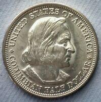 1893 Silver Columbian Half Dollar Coin US 50c Coin Uncirculated Commemorative