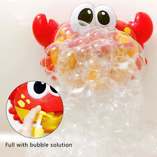 Funny Bubble Maker Children Automated Spout Crab Shape Kid Bath Shower Toy_GG