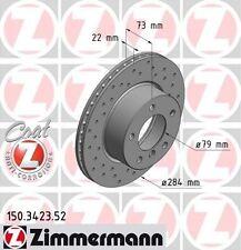 BMW E81 / E87 Série 1 paire de zimmermann disques de frein avant Sport (34116764629)