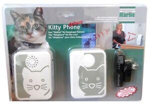 Karlie Kitty Phone Deluxe Meldesystem Katzenklingel Telefon Sender und Empfänger